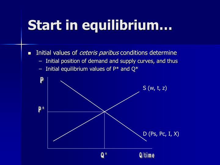 Start in equilibrium…