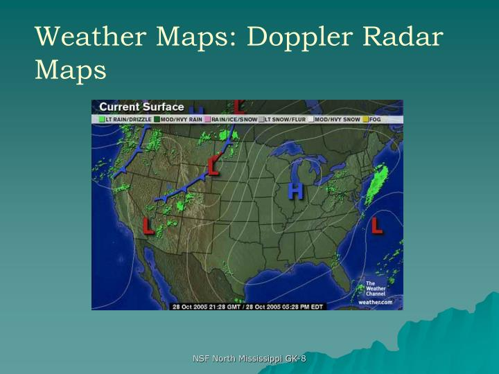 Weather Maps: Doppler Radar Maps