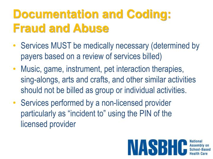 Documentation and Coding: