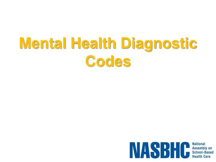 Mental Health Diagnostic Codes
