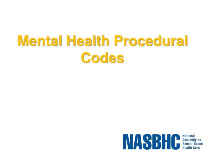 Mental Health Procedural Codes
