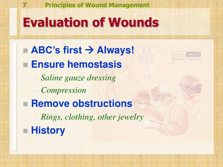 Evaluation of Wounds