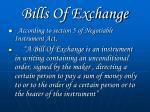 bills of exchange1