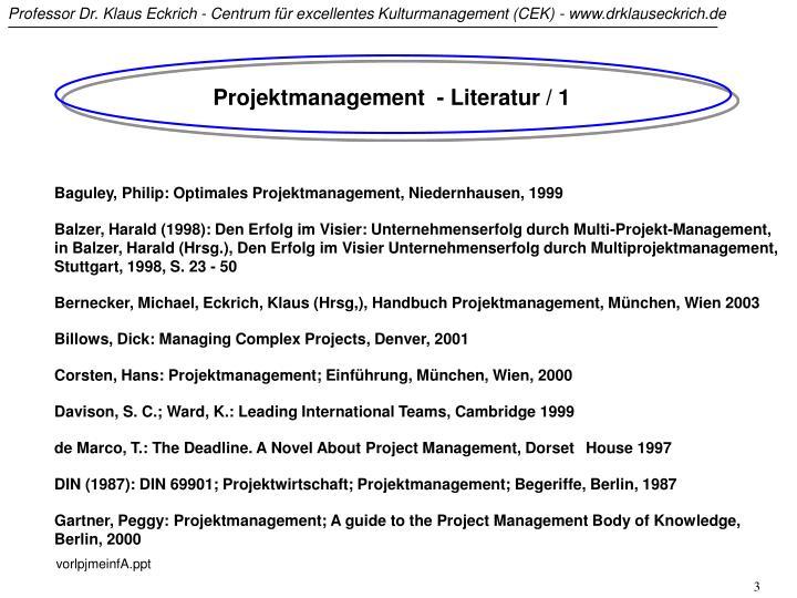 Projektmanagement  - Literatur / 1