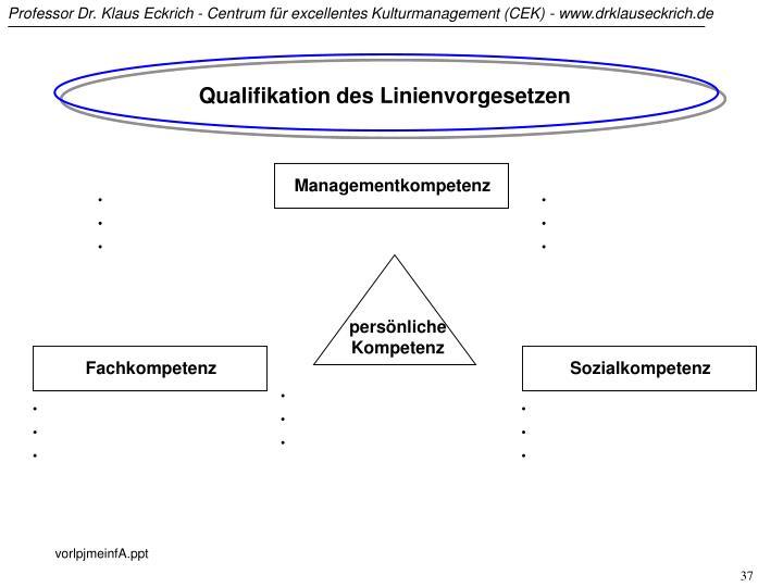 Qualifikation des Linienvorgesetzen