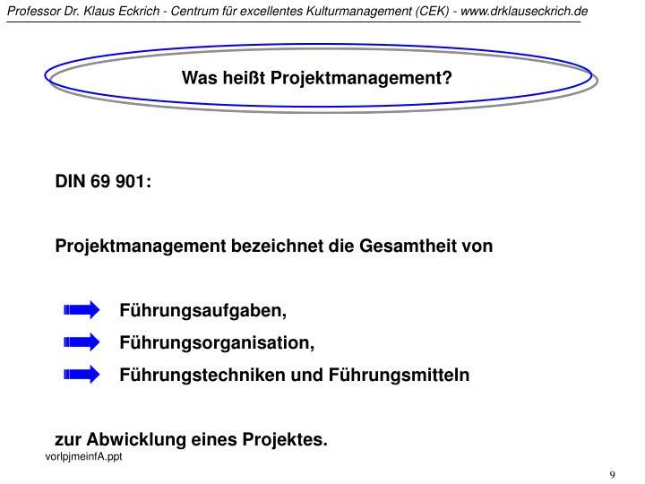 Was heißt Projektmanagement?