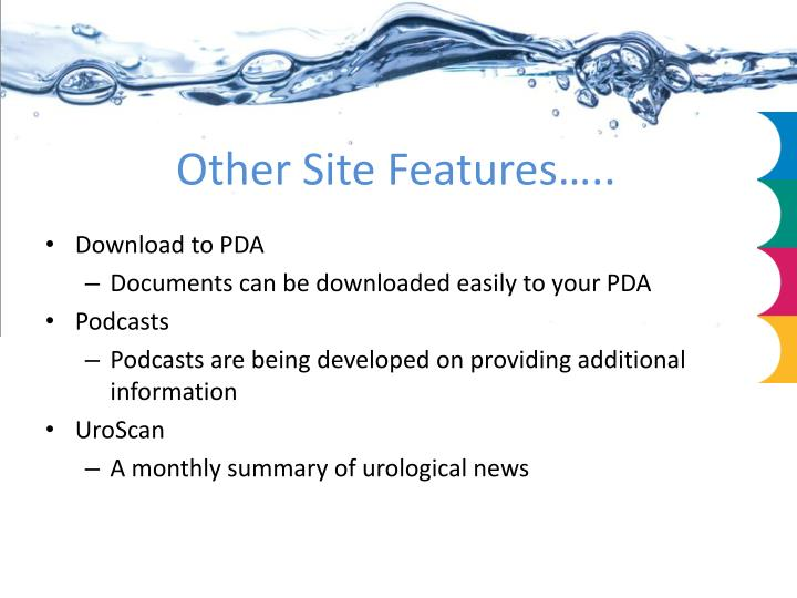Other Site Features…..