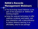 nara s records management webinars