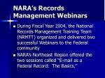 nara s records management webinars1