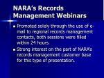 nara s records management webinars2