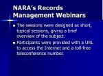 nara s records management webinars3