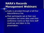 nara s records management webinars5