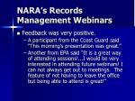 nara s records management webinars6