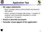 application tips2