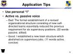 application tips3