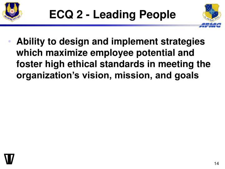ECQ 2 - Leading People