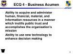 ecq 4 business acumen