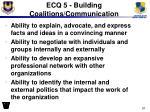 ecq 5 building coalitions communication