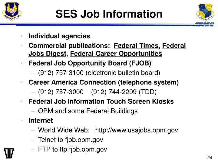 SES Job Information