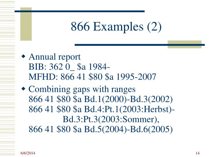 866 Examples (2)