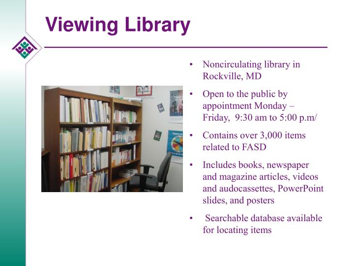 Viewing Library