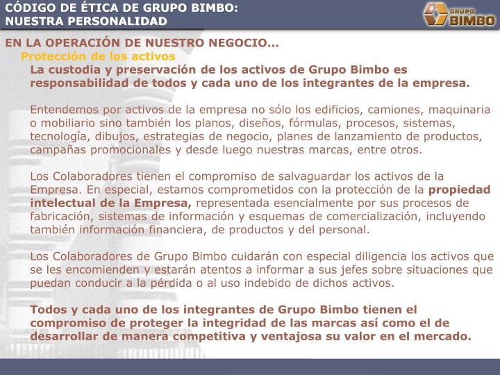 CÓDIGO DE ÉTICA DE GRUPO BIMBO: