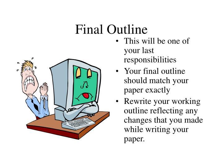 Final Outline