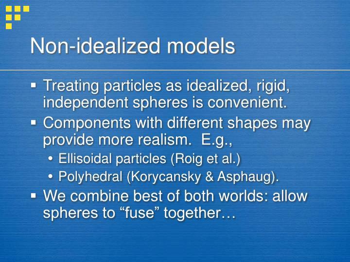 Non-idealized models
