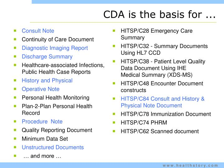 CDA is the basis for ...