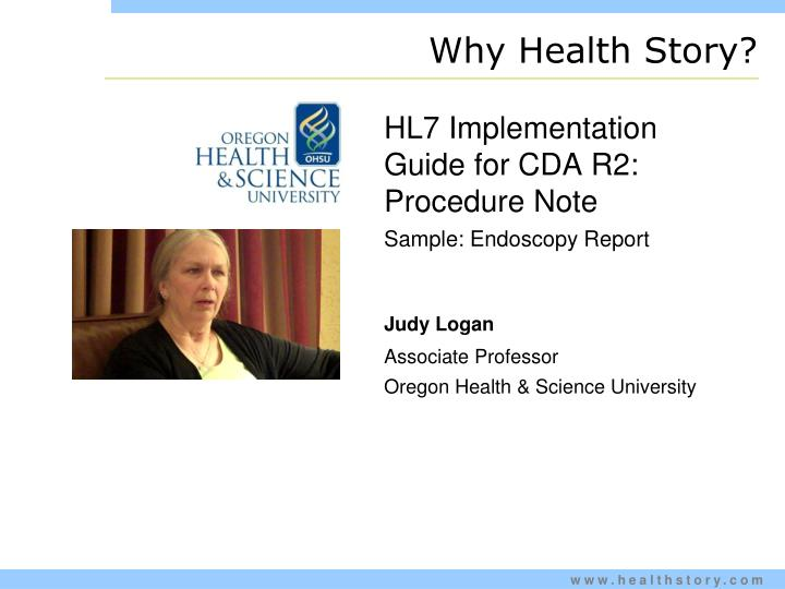 Why Health Story?