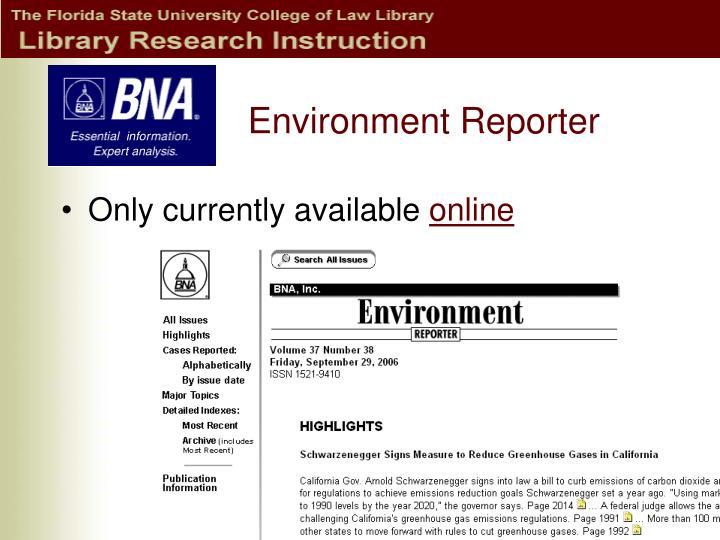 Environment Reporter