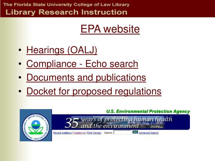 EPA website