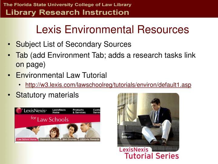 Lexis Environmental Resources