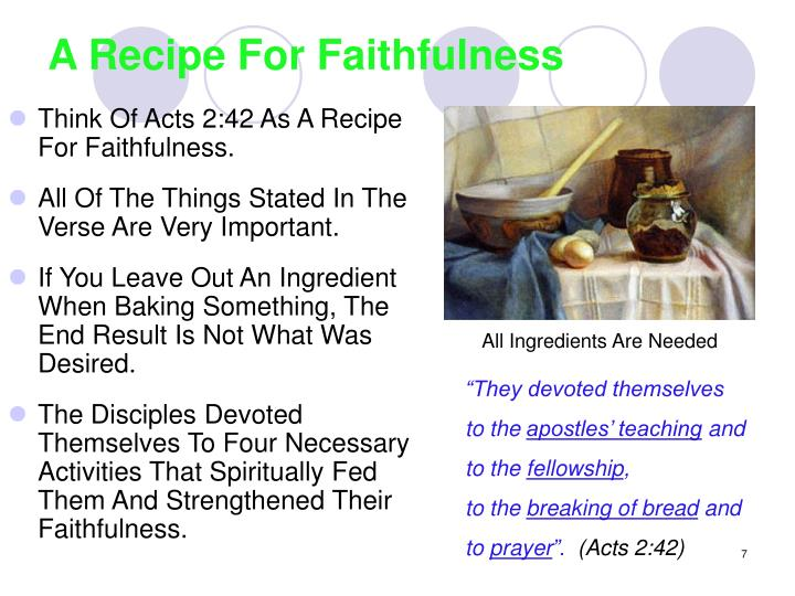 A Recipe For Faithfulness