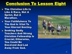 conclusion to lesson eight