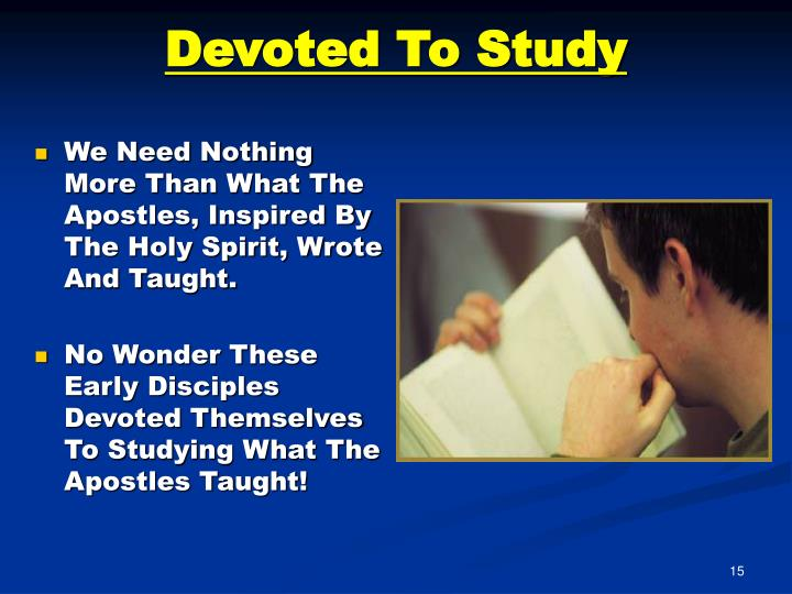 Devoted To Study