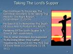 taking the lord s supper