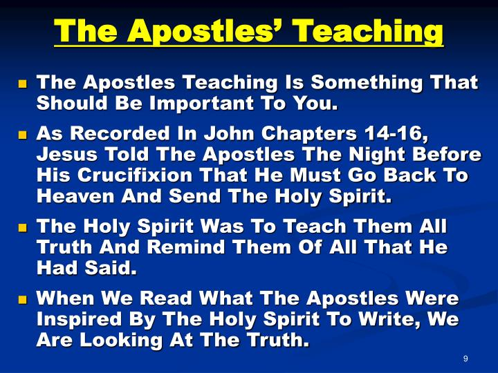 The Apostles' Teaching