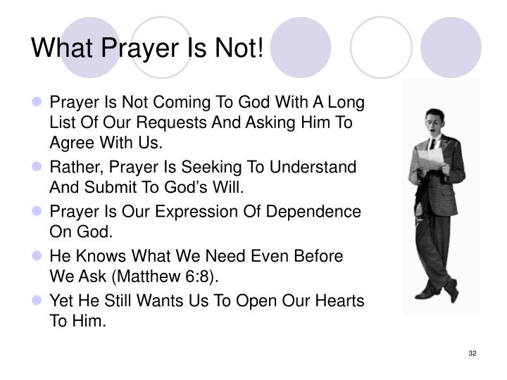 What Prayer Is Not!