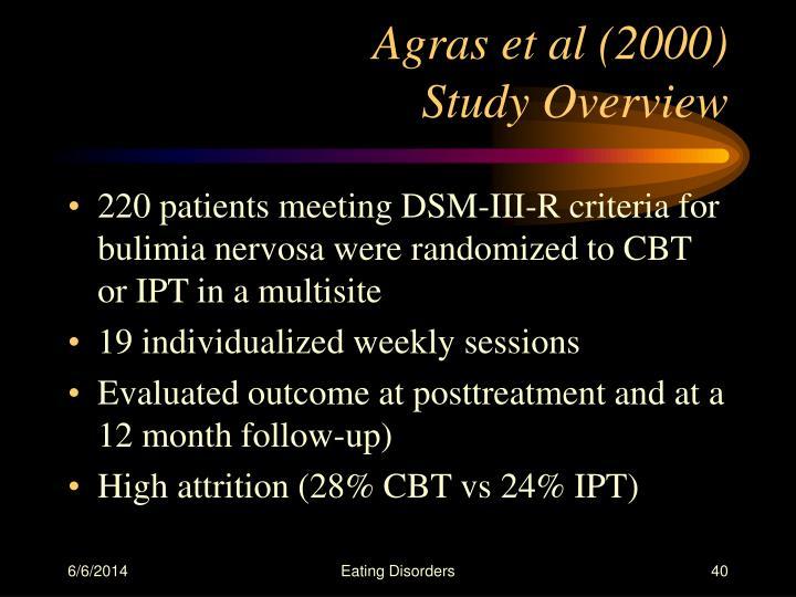 Agras et al (2000)