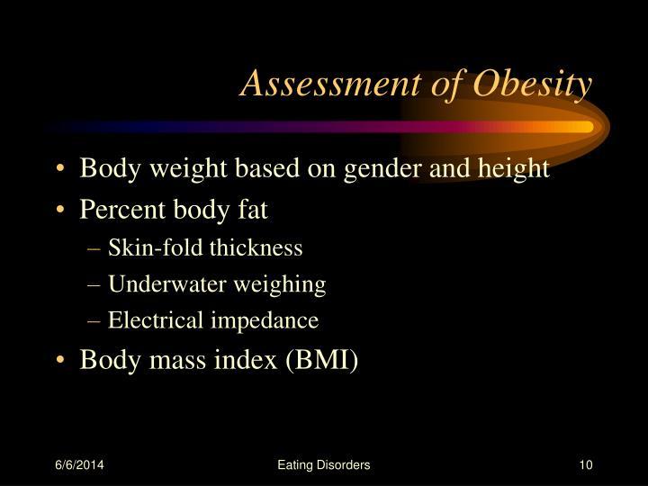 Assessment of Obesity
