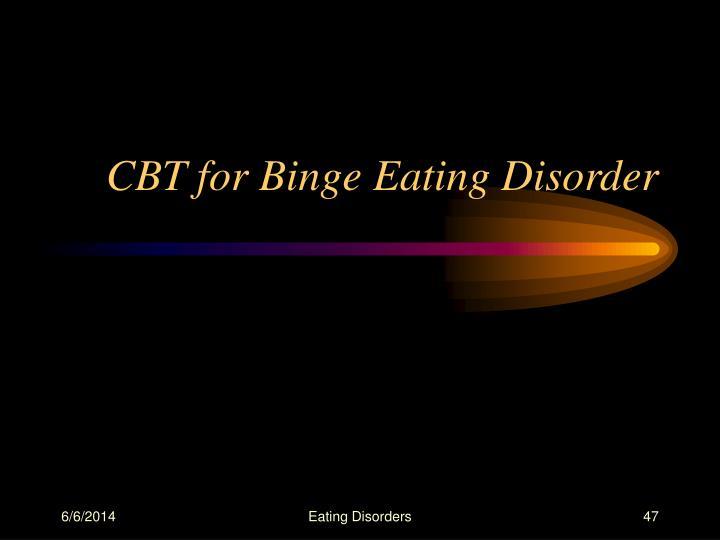 CBT for Binge Eating Disorder