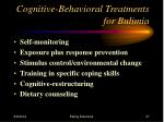 cognitive behavioral treatments for bulimia