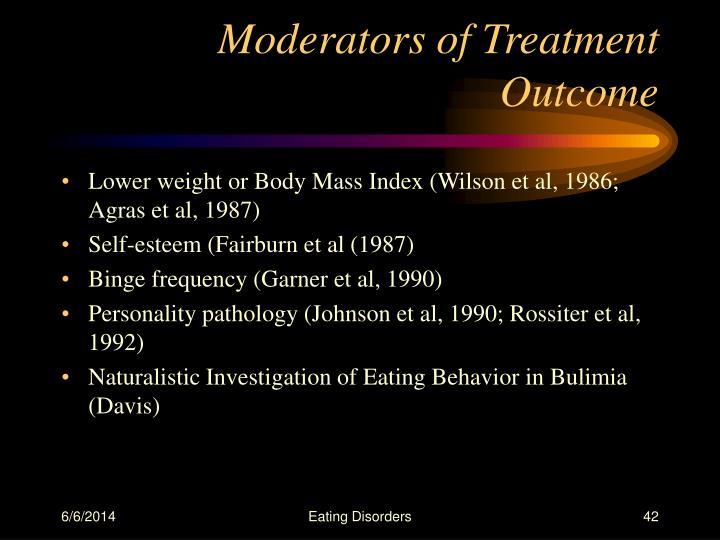 Moderators of Treatment Outcome