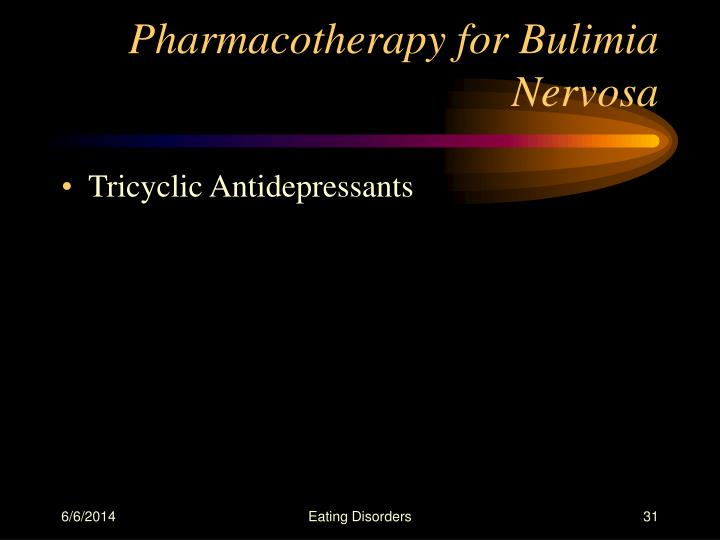 Pharmacotherapy for Bulimia Nervosa