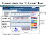 communicating in cisco my customer pages
