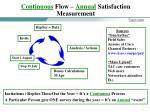 continuous flow annual satisfaction measurement