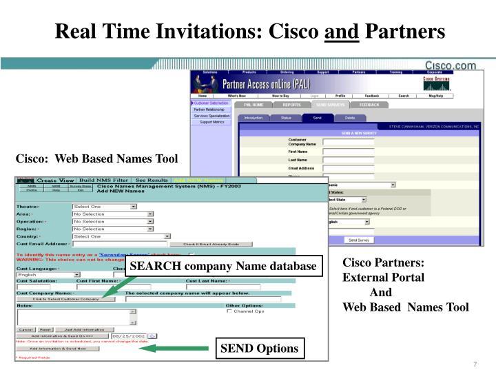 Real Time Invitations: Cisco