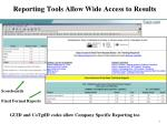 reporting tools allow wide access to results