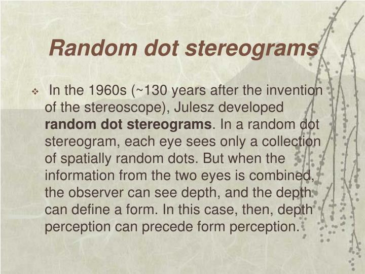 Random dot stereograms